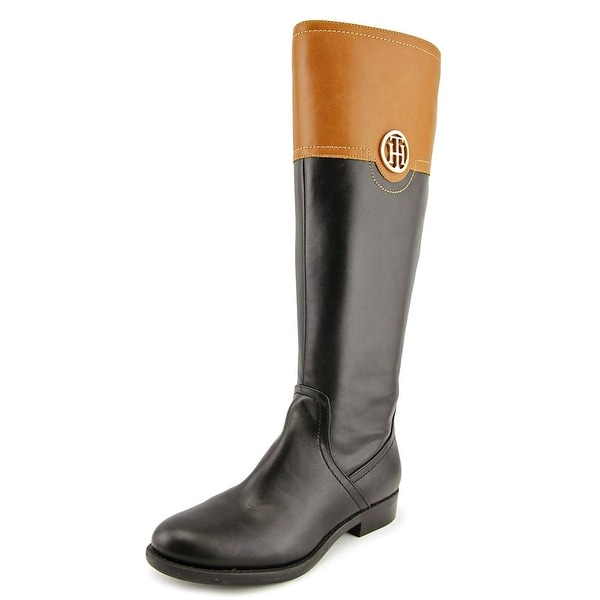 Tommy Hilfiger Silvana 3 Women Round Toe Leather Black Knee High Boot