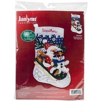 Christmas Fun Stocking Felt Applique Kit