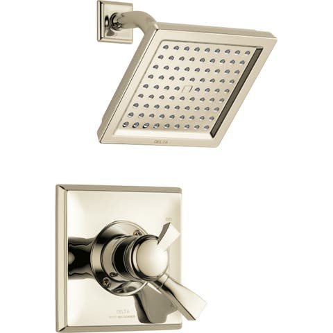 Delta T17251 Dryden 2.5 GPM Single Function Shower Head and Trim Package with Touch Clean Technology -