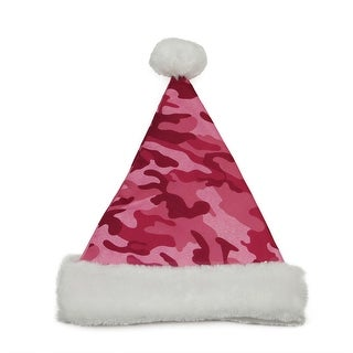 "14"" Pink Camouflage Christmas Santa Hat - Medium"