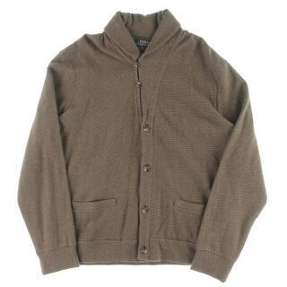 Polo Ralph Lauren Mens Cardigan Sweater Jacquard Fleece Shawl Collar|https://ak1.ostkcdn.com/images/products/is/images/direct/d161fd7745c220f0bd13a6c44a599c437bb813a7/Polo-Ralph-Lauren-Mens-Cardigan-Sweater-Jacquard-Fleece-Shawl-Collar.jpg?impolicy=medium