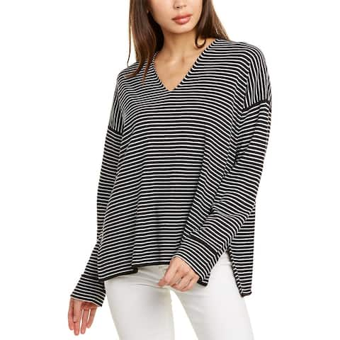 Eileen Fisher Striped Silk-Blend Top