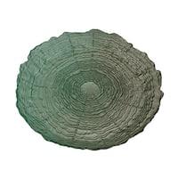 Gradient Green Decorative Water Ripple Textured Glass Dish