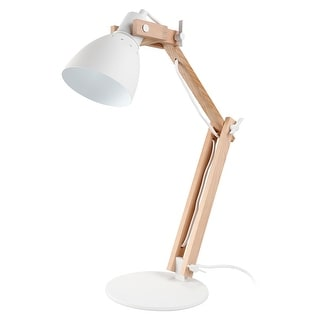 Link to Natural Wooden Swing Arm LED Desk Lamp, 4-Level Dimmer Similar Items in Desk Lamps