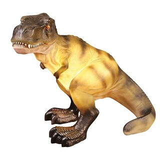 Dinosaur Resin Table Lamp - T-Rex Tyrannosaurus - gray - 21 in. x 14 in. x 18 in.