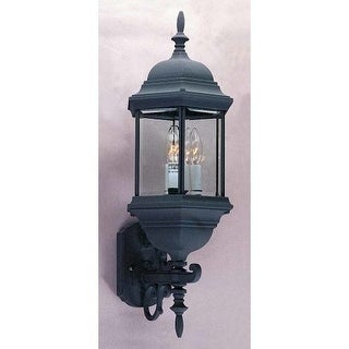 "Volume Lighting V8131 3 Light 26.5"" Height Outdoor Wall Sconce with Clear Beveled Glass"