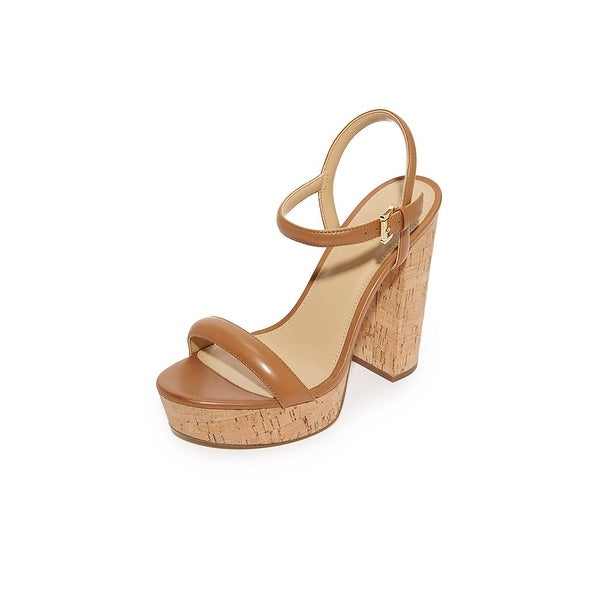 MICHAEL Michael Kors Womens Dallas Leather Open Toe Casual Ankle Strap Sandals