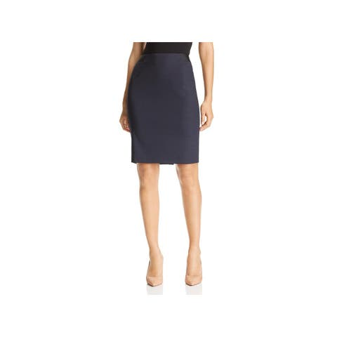 Hugo Boss Womens Verina Pencil Skirt Wool Stretch