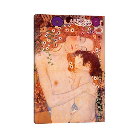 """iCanvas """"Mother And Child"""" by Gustav Klimt Canvas Print"""