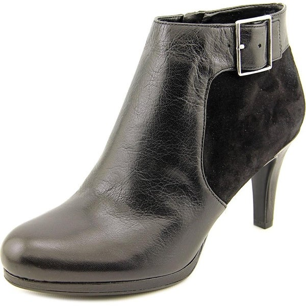 Naturalizer Maureen Women Round Toe Leather Black Ankle Boot