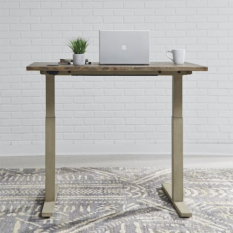 Carbon Loft Cauthen Vintage Cream Wirebrushed Toffee 48-inch Electrical Desk