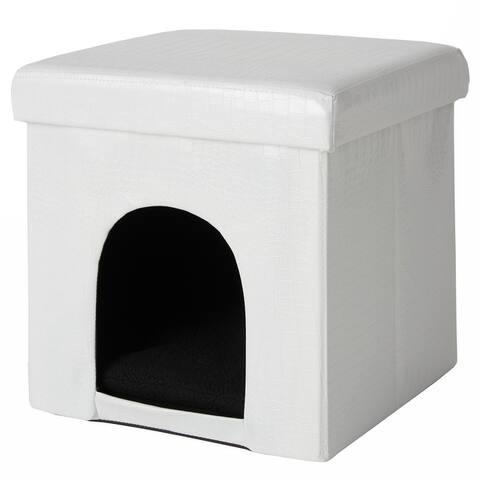 "Mina Victory Croco Pet House, (15"" x 15"" x 15"")"