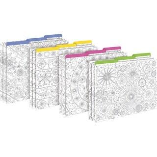 Barker Creek Color Me! Garden File Folders, Letter Size, Multiple Designs, Set of 12