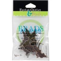 Eyelet Outlet Shape Brads 12/Pkg-Corner