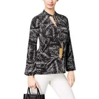 MICHAEL Michael Kors Womens Pullover Top Jersey Printed