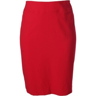 Nine West Womens Plus Lined Partial Stretch Waist Pencil Skirt