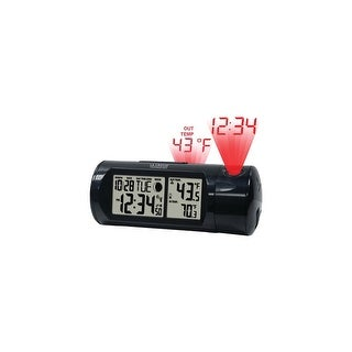 La Crosse Technology LCR616143B La Crosse Technology 616-143 Projection Alarm Clock with Backlight with In/Out Temp and Sound