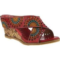 L'Artiste by Spring Step Women's Enticing Slide Red Leather