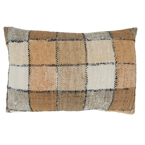 Checkered Design Throw Pillow. Opens flyout.