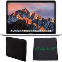 "Apple 13.3"" MacBook Pro (Silver) #MPXU2LL/A + Padded Case For Macbook + Fibercloth Bundle"
