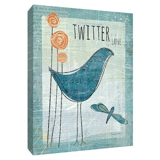 """PTM Images 9-154929  PTM Canvas Collection 10"""" x 8"""" - """"Twitter Lane"""" Giclee Birds Art Print on Canvas"""