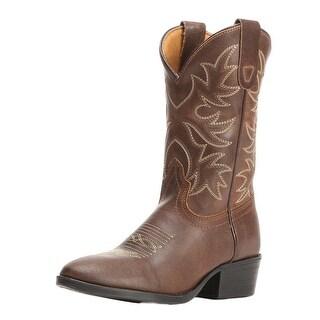 Dan Post Western Boots Boys Carter Cowboy Stitching Brown DPC2006