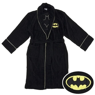 DC Comics Batman Logo Men's Cotton Bathrobe