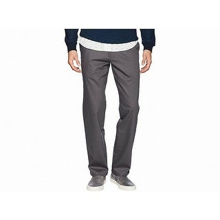 Dockers Mens Pants Gray Size 38x30 Flat Front Straight Khakis Stretch