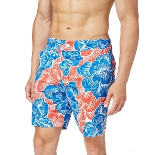 Tommy Hilfiger NEW Blue Red Mens Size 2XL Floral Board Surf Shorts