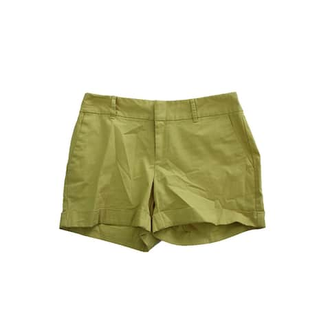 Maison Jules Lime Green Relaxed Shorts
