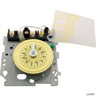 Timer Mechanism, Intermatic, T104, DPST, 230v, 24hr, Yellow Dial