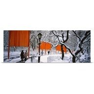 Poster Print entitled New York, New York City, Central Park, People walking in The Gates