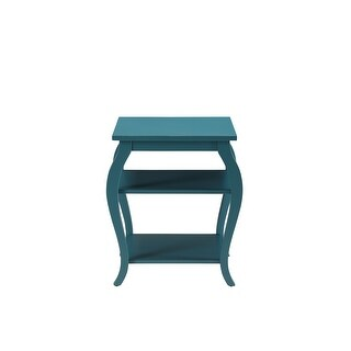 End Table In Teal - Mdf, Solid Wood Leg Teal