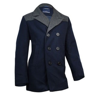 Nautica Men's Colorblock Wool Peacoat XL, Double Navy - XL