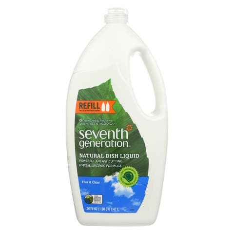 Seventh Generation Dish Liquid - Free and Clear - Case of 6 - 50 Fl oz.