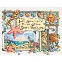 "Simple Treasures Counted Cross Stitch Kit-14""X11"" 14 Count"