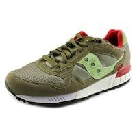 Saucony Shadow 5000 Men  Round Toe Suede Green Running Shoe