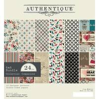 "Authentique Double-Sided Cardstock Pad 6""X6"" 24/Pkg-Companions, 6 Designs/4 Each"