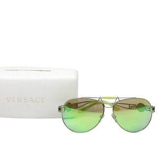 Link to Versace Women's Mirrored Lime Green Metal Aviator Sunglasses 2160 1358/8N - One size Similar Items in Women's Sunglasses