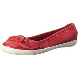 Sudini Womens Olga Flats Knot-Front Leather