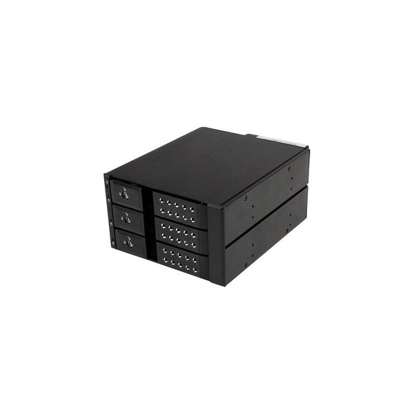 StarTech HSB3SATSASBA StarTech.com 3 Bay Aluminum Trayless Hot Swap Mobile Rack Backplane for 3.5in SAS II/SATA III - 6 Gbps HDD