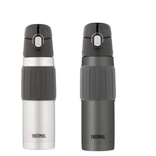 Thermos Vacuum Insulated 18 Ounce Stainless Steel Hydration Bottle 2PK