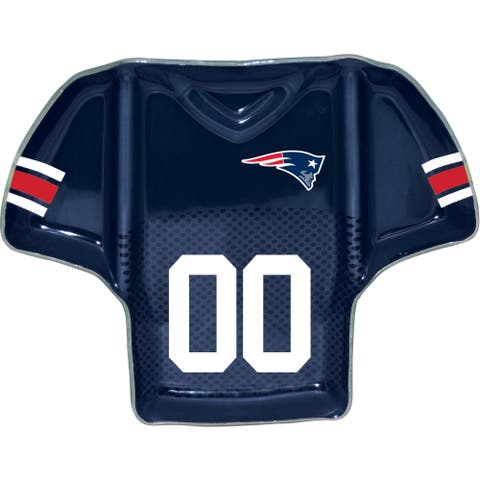 New England Patriots Glass Jersey Chip and Dip Tray