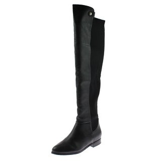 Chinese Laundry Womens Robin Over-The-Knee Boots Leather Contrast Trim