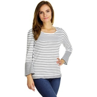 Cable & Gauge Women's 3/4 Sleeve Lace Up Side Top