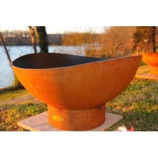Scallops by Fire Pit Art - Orange