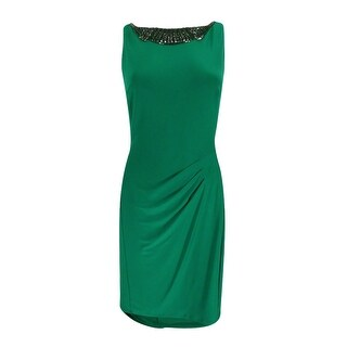Lauren Ralph Lauren Women's Embellished Neckline Jersey Dress - 8