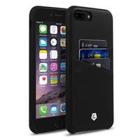 CobblePro Black Leather with Wallet Flap Pouch For Apple iPhone 7 Plus
