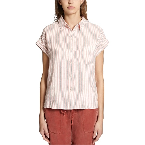 Sanctuary Clothing Womens Mod Ss Button Up Shirt. Opens flyout.