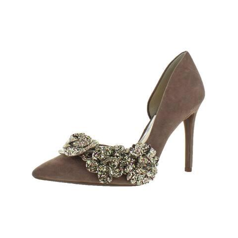 54cfefaab8fe Jessica Simpson Womens Pruella D Orsay Heels Suede Wedge